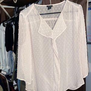 See through long sleeve blouse